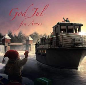 Motiv Julekort Elvekongen illustrert av Stig Saxegaard